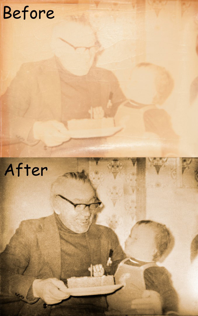 Before & After photo restoration